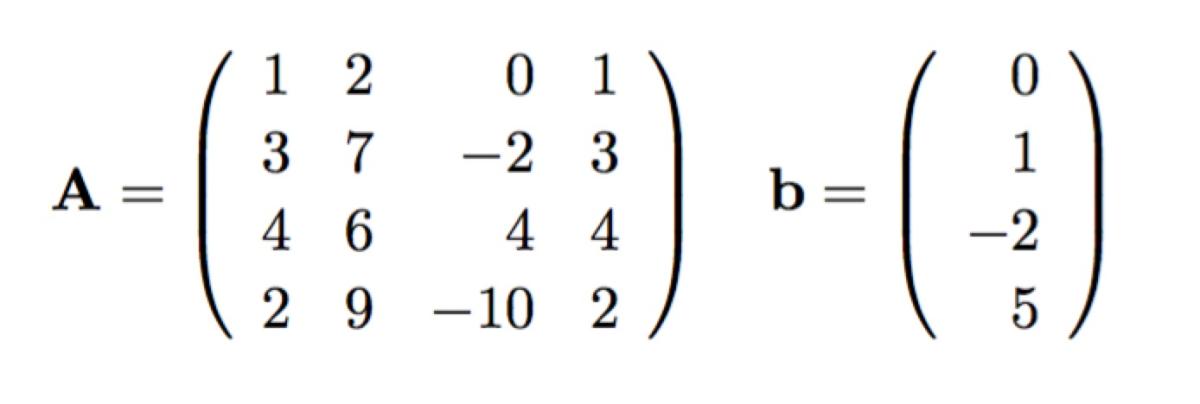 Solve Ax=b in Maxima, part2